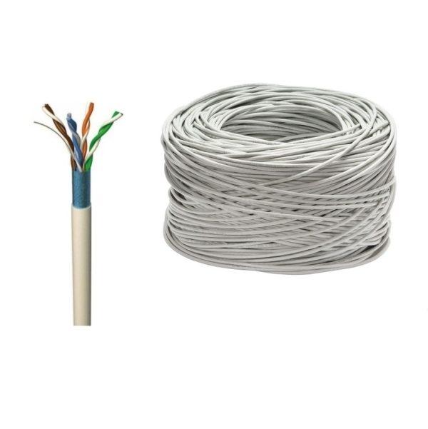Мрежови LAN кабел FTP cat.5e, 24 AWG, меден, 305м