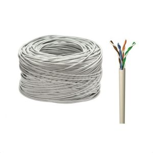 Мрежови LAN кабел UTP cat.5e, 24 AWG, меден, 305м