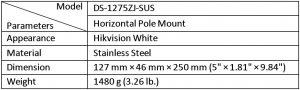 DS-1275ZJ-SUS_таблица
