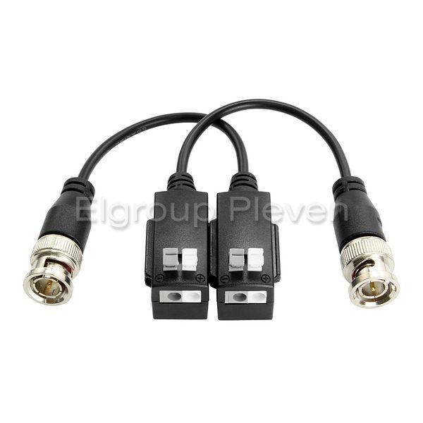 5MP видео балун, 2-броя комплект HIKVISION DS-1H18S